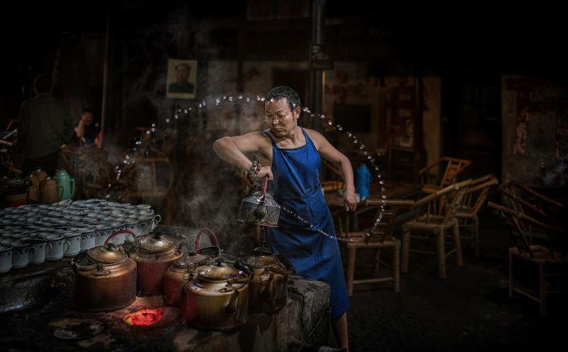 The Old Tea House by Alexandrino Lei Airosa